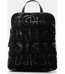 square logo backpack - black - u