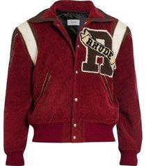 corduroy varsity jacket maroon