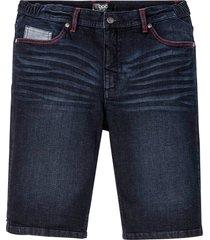 bermuda in jeans elasticizzato con taglio comfort regular fit (blu) - bpc bonprix collection