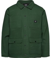 drill chore coat lined tunn jacka grön vans