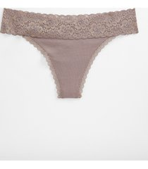 maurices womens comfy stretch lavender cotton thong pantsy purple
