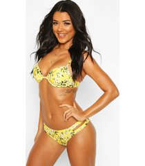 ditsy floral underwired bikini, yellow