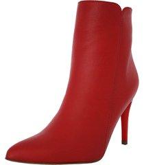 botines stivali malta cuero rojo