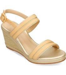 sandalias de plataforma beige bata holn mujer