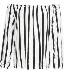 maglia a righe con spalle scoperte (bianco) - bodyflirt