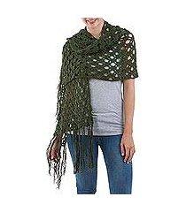 100% alpaca shawl, 'andean fantasy' (peru)