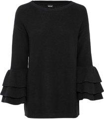 maglione con volant (nero) - bodyflirt boutique