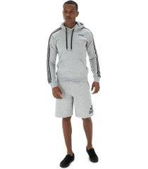 bermuda de moletom adidas must haves sport - masculina - cinza claro