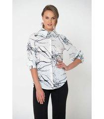 camisa estampado abstracto