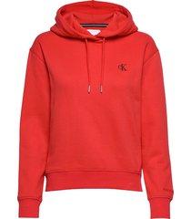 ck embroidery hoodie hoodie trui rood calvin klein jeans