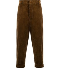 ami oversized carrot fit trousers - brown