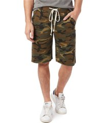 alternative apparel men's victory printed burnout french terry shorts