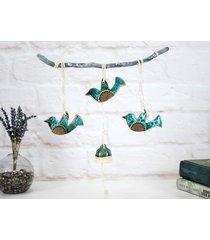 ceramiczna dekoracja ścienna - ptaki boho