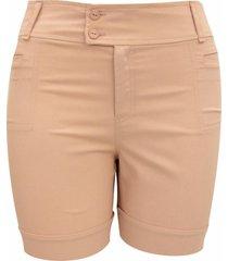 shorts pau a pique bã¡sico rosa - rosa - feminino - dafiti
