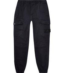 river island mens black washed slim fit cargo pants