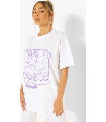 gelicenseerd oversized spongebob t-shirt, white