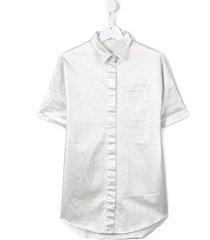 andorine raw edge long shirt - metallic