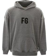 fear of god logo hoodie