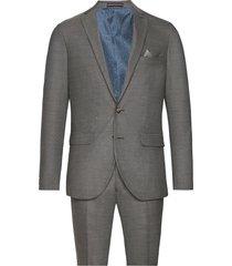 melange weave kostym grå matinique