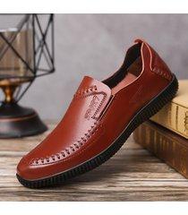 scarpe da equitazione casual morbide resistenti allo scivolamento in pelle da uomo