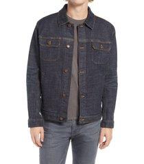 men's pendleton ryder denim jacket, size large - blue