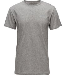casual tee t-shirts short-sleeved grijs han kjøbenhavn