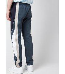 martine rose men's twix track pants - dark grey/black - l