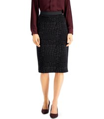 alfani animal-print pencil skirt, created for macy's