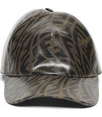 x sarah coleman logo print baseball cap brown