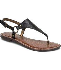 greta shoes summer shoes flat sandals svart sam edelman