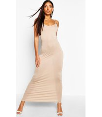 basic strappy maxi dress, sand