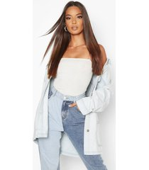 bleach pocket jean jacket, light blue