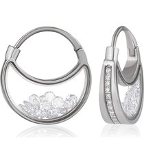 the purses diamond shaker pave earrings