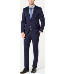 tommy hilfiger men's slim-fit th flex stretch wool suit