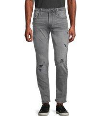 buffalo david bitton men's distressed low-rise skinny-fit jeans - indigo - size 34 34