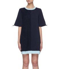 bungee cord sleeve sweatshirt dress
