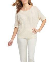 women's nic+zoe glow for it sweater, size x-large - ivory