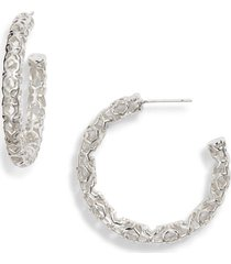 women's kendra scott maggie medium hoop earrings