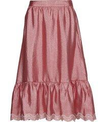 betty, 636 textured poly knälång kjol rosa stine goya