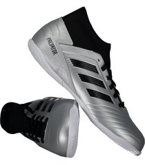 chuteira adidas predator 19.3 in futsal juvenil prata