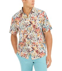tommy bahama men's big & tall bongo palms islandzone moisture-wicking tropical-print camp shirt