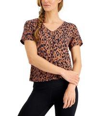 ideology women's animal-print t-shirt, created for macy's