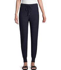 cashmere jacquard knit drawstring pants