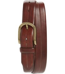 men's bosca dolce center stitch leather belt, size 38 - dark brown