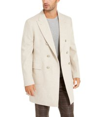 tallia men's slim-fit double-breasted overcoat