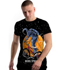 camiseta stompy new collection astronaut biker preto - kanui