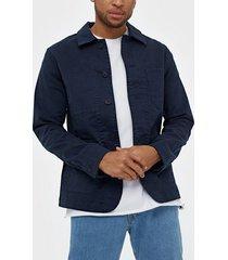 selected homme slhjackson cotton jacket w jackor mörk blå