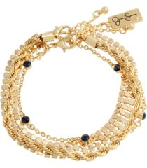 jessica simpson stone chain bracelet set of 3