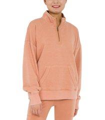 hippie rose juniors' quarter-zip sweatshirt