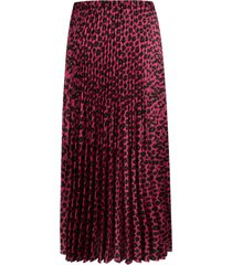 vivetta leopard print pleated skirt